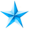 Blue Christmas Star Icon image #633