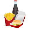 Fast Food Meal  /food/meals/fast Food/hamburger Fast Food Meal image #41620