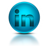 098454 Blue Metallic Orb Icon Social Media Logos Linkedin Logo image #2047