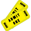 Admit One Ticket Yellow  Picture image #49015