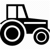 Agriculture, Farm, Farmer, Farming, Machinery, Wheeled Tractor Icon image #2788