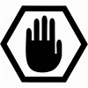 Alert, Stop, Hand, Warning, Forbidden Icon image #10076