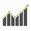 Analytics, Arrow, Chart, Graph, Growth, Report, Statistics Icon image #3475