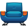 Armchair Furniture Icon image #2599