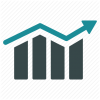 Arrow, Bar Chart, Diagram, Graph, Growth, Progress, Trend Icon image #3480