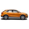 Audi Q3 Car PNG Orange Side View image #45308