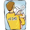Baby Sleeping On Fathers Shoulders Png image #42625