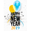 Ballons With 2019 Happy New Year Cards image #47301