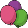 Balloons Save Icon Format image #16179