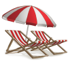 Beach Umbrella And Chairs image #41221