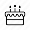Birthday Cake Icon image #10182
