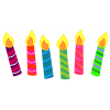 Background  Birthday Candles Transparent image #31051