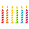 High Resolution Birthday Candles  Icon image #31039