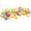 Birthday Party Balloons  Clipart image #45904
