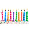 Birthday Party Candles Transparent Background image #45921