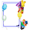 Birthday Party Frame  Transparent Image image #45896