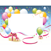 Birthday Party Frames, Balloons, Gift Box image #45910