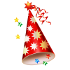 Birthday Party Red Hat Transparent thumbnail 45907