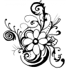 Black And White Clip Art Flowers Pictures image #41822