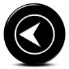 Black Back Arrow Button Icon image #21051