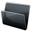 Black Folder, Directory Icon image #12405