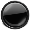 Black Glossy Button Icon image #21059