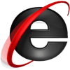 Black Internet Explorer 9 Icon image #13497