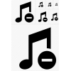 Black Music Stop Icon thumbnail 39455