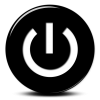Black White Power Button Icon image #8353