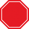 Blank Stop Sign image #27210