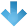 Blue Arrow Down Icon image #6698