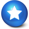 Blue, Ball, White, Star, Favourite Icon image #39682