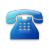 Blue Business Phone Solid Icon image #3627