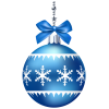 Blue Christmas Ornaments Photo image #46365