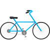 Blue Drawing Bicycle  Clipart image #45203