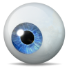 Blue Eye Icon   The Eye Icons   Softiconsm image #1468