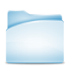 Blue Folder Full Icon image #24495