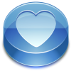 Blue, Heart, Glass, Favorite Icon thumbnail 39685