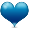 Blue Heart Icon image #3349