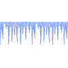 Blue Painted Multi-part Images Icicle Image image #48595