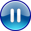 Blue Pause Icon image #29582