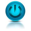 Blue Power Button Icon image #8350