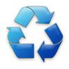 Blue Recycle Icon image #4192