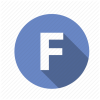 Blue Round Letter F Icon image #13251