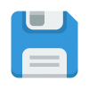 Blue Save Disk Icon image #36513