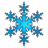 Blue Simple Snowflakes Icon image #41278