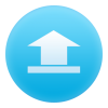 Blue, Up, File, Circle, Document, Upload Icon thumbnail 43254