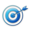 Bluee Target Icon image #4513