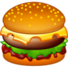 Burger, Cheeseburger, Fast, Fast Food, Food, Hamburger, Sandwich Icon image #5960