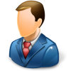 Business Man Blue Icon Free Search Download As , Ico And Icns image #1958